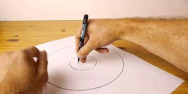 Freihändig einen Kreis zeichnen
