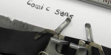 Schreibmaschine kann 'Comic Sans'