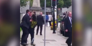 David Cameron beinahe attackiert