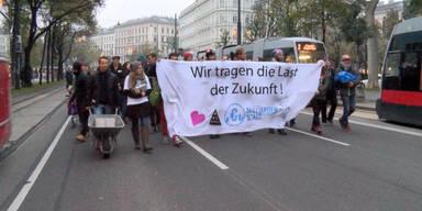 Protestmarsch am Wiener Ring