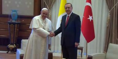 Papst bei Erdogan in der Türkei
