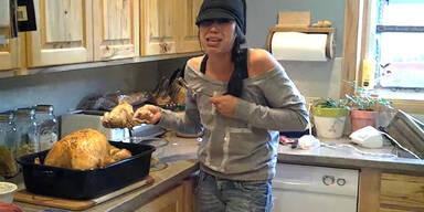 Thanksgiving-Truthahn war schwanger