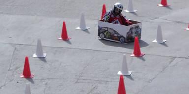 Wahnsinns-Rennen mit Mini-Kart