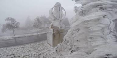 Eis-Alarm in Teilen Österreichs