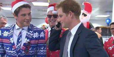 Prinz Harry auf Charity Besuch