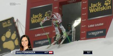Anna Fenninger wird 2. in Lake Louise