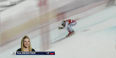Tina Weirather wird 3. in Lake Louise