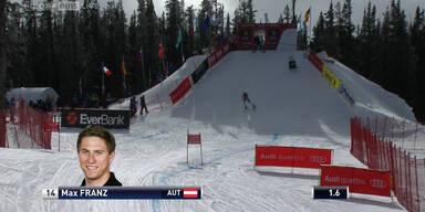 Max Franz fährt auf den 7. Platz