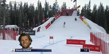 Steven Nyman belegt den 3. Platz
