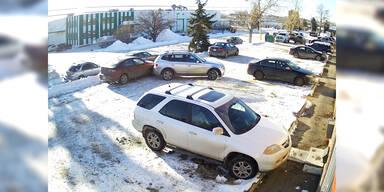 Schlechter kann man nicht ausparken