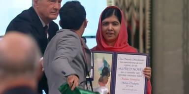 Mann stört Friedensnobelpreis Verleihung