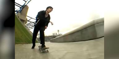 Dieser Skater hat einen Schutzengel