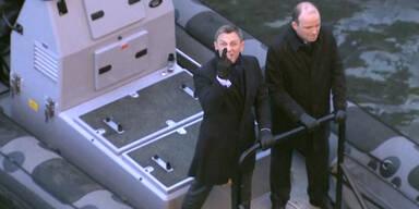 007 Daniel Craig gut gelaunt beim Dreh