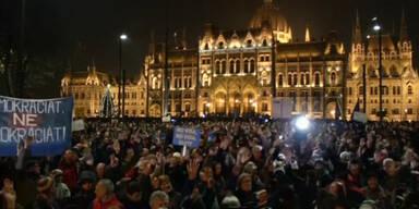 Budapest: Protest gegen Regierung