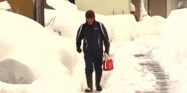 Tote nach Schneefällen in Japan