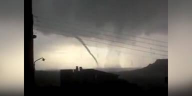 Doppel-Tornado in Griechenland