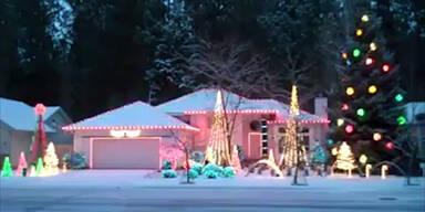 Techno-Weihnachtsbeleuchtung