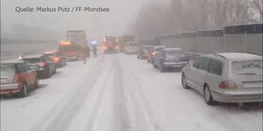 Schnee-Unfall: Rettungsgasse