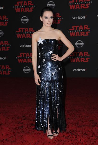 """Daidy Ridley bei der Premiere von """"Star Wars: The Last Jedi"""""""