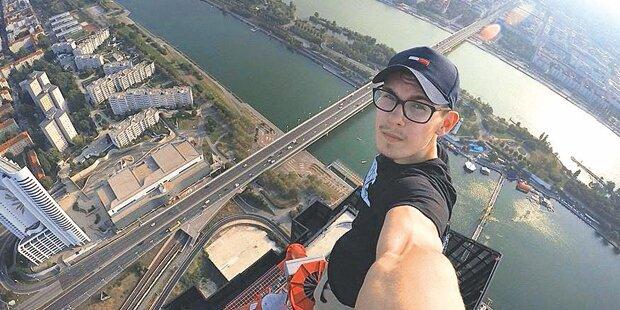 Wiener klettert auf DC Tower