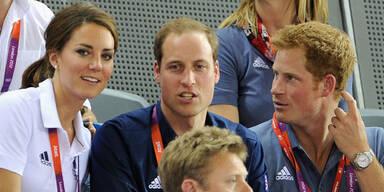 Prinz Harry, Prinz William & Herzogin Kate