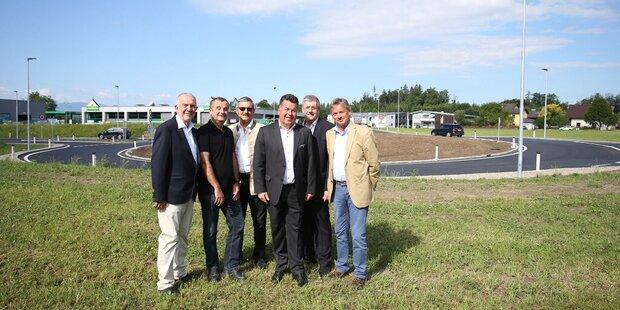 Kreisverkehr Oberndorf fertiggestellt