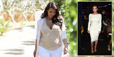 Kim Kardashian: Kampf gegen die Baby-Pfunde