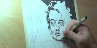 Perfektes Portrait von Bill Murray
