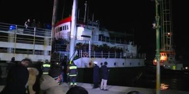 Führerloser Frachter erreicht Italien