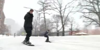 Boston begeistert vom Schneechaos