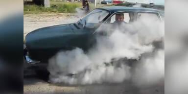 Gas geben bis die Reifen glühen