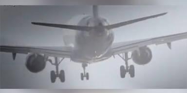 Seitenwind verursacht Holprige Landung