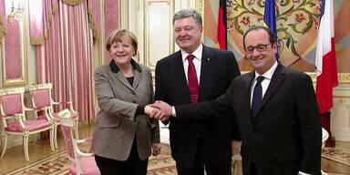 Merkel und Hollande für Frieden