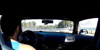 Rote Ampel überfahren - Crash