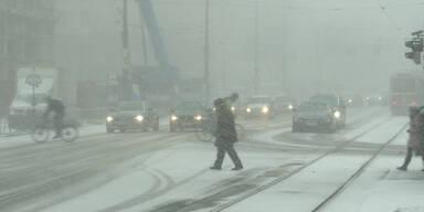 Wien versinkt im Schnee