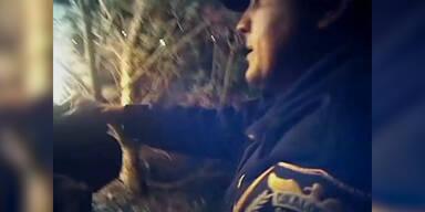 Polizist rettet Mann aus brennendem Auto