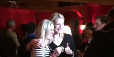 Höfl-Riesch gratuliert Nicole Hosp