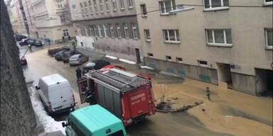 Goldschlagstraße wurde überflutet