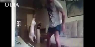Frau erwischt grausamen Tierquäler