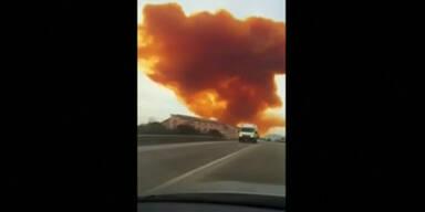 Riesige Giftwolke über Spanien