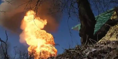 Debalzewe: Granate trifft Pipeline