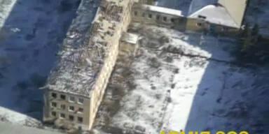 Drone filmt zerstörtes Debalzewe