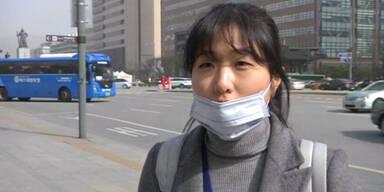 Gelber Dunst über Südkorea