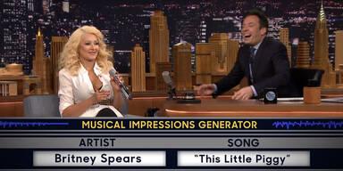 Christina Aguilera imitiert Britney