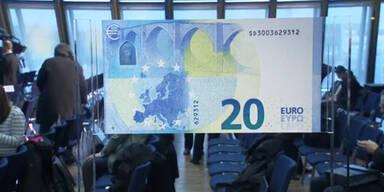 Präsentation des neuen 20-Euro-Scheins