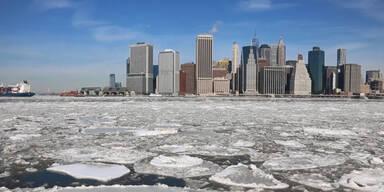 New York: Hudson River vereist