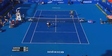 """""""Baby-Federer"""" zertrümmert sein Racket"""