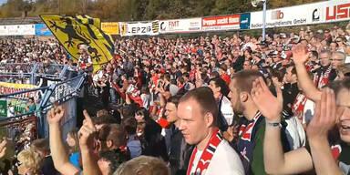 RB Leipzig Fans im Stadion