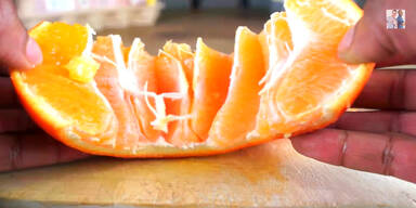 Orange perfekt schälen