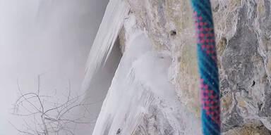 Kletterer wird von Lawine erwischt